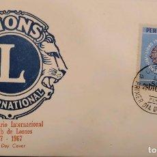 Sellos: O) 1967 PERÚ, LIONS INTERNATIONAL, DESDE 1917, FDC XF. Lote 275175778