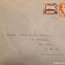 Sellos: O) 1936 PERÚ, MAPA DE CARRETERAS DEL PERÚ, GOBIERNO RESTAURANTE EN EL CALLAO, HACIA USA, XF. Lote 277539488