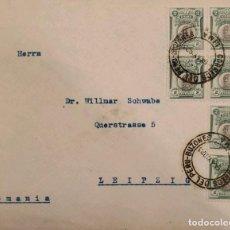 Sellos: O) 1923 PERÚ, GENERAL SAN MARTIN SCT 210 2C VERDE, TAPA CIRCULAR A LEIPZIG, XF. Lote 277543998
