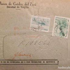 Sellos: O) 1955 PERÚ, CONTOUR FARMIN CUZCO, BARCO DE PESCA Y PRINCIPAL FISH, IMPRESIÓN DE THOMAS DE LA RUE A. Lote 277544168