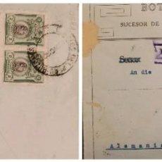Sellos: O) 1922 PERU, , GENERAL SAN MARTIN SCT 210,BOTICA INGLESA, 2° CORREO, TO GERMANY. Lote 277545088