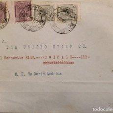 Sellos: O) 1908 PERÚ, SAN MARTIN, MANCO CAPAC, CIRCULADO A USA. Lote 278293163