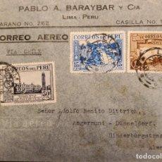 Sellos: O) 1938 PERÚ, UNIVERSIDAD SAN MARCOS EN LIMA, FERROCARRIL, TREN EN MONTAÑA, AVENIDA DE LA REPÚBLICA. Lote 278302233