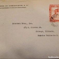 Sellos: O) 1970 PERÚ, CHASQUI MESSENGER, MINAS DE CERCAPUQUIO, CIRCULADO A USA. Lote 278302888