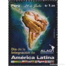 Sellos: PE2881 PERU 2020 MNH LATIN AMERICA INTEGRATION DAY. Lote 287536273