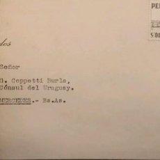 Sellos: O) 1952 PERÚ, LOCOMOTORA N ° 80 Y ENTRENADORES, IMPRESIÓN DE THOMAS DE LA RUE Y CO, CÁMARA DE DIPUTA. Lote 287965283