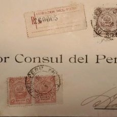 Sellos: O) PERÚ, CORRESPONDENCIA OFICIAL DEL GOBIERNO TESORO, SELLOS OFICIALES, ESCUDO DE ARMAS SCT 029 10C. Lote 287965888