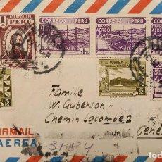 Sellos: O) PERÚ, TORIBIO DE LUZURIAGA RADIO NACIONAL DEL PERÚ, GOBIERNO RESTAURANTE EN EL CALLAO, MÚLTIPLES. Lote 287970218