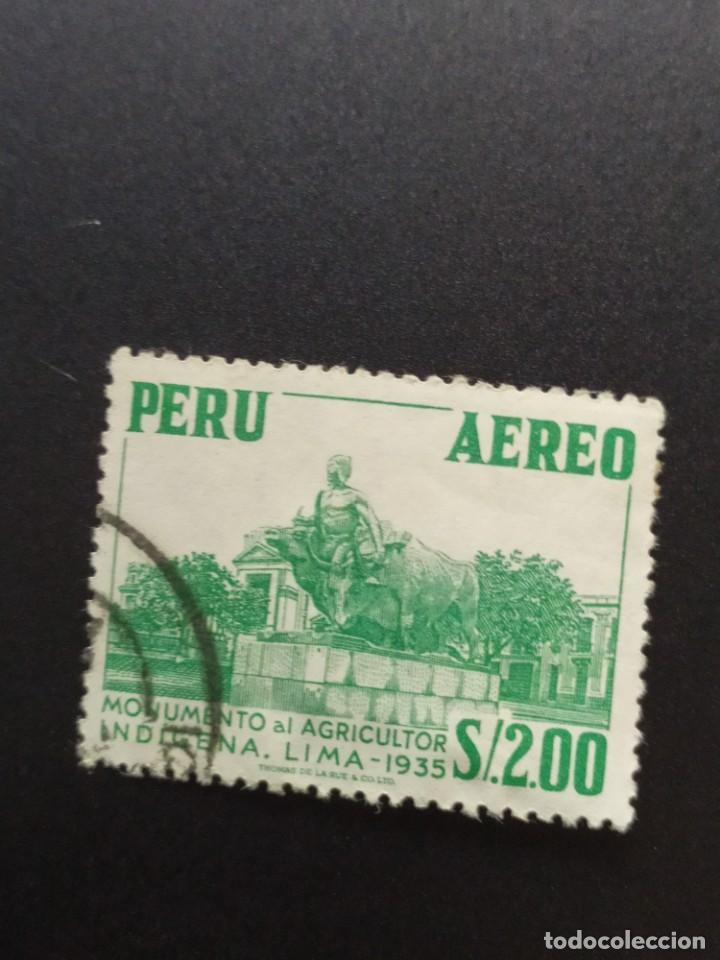 ## PERÚ USADO 1935 MONUMENTO AL AGRICULTOR 2S## (Sellos - Extranjero - América - Perú)