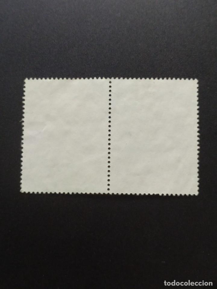 Sellos: ## Perú usado 1985 J. C. Mariategui bloque de 2 sellos## - Foto 2 - 288339118
