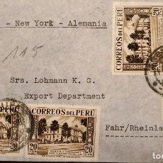 Sellos: O) 1938 PERÚ, MONUMENTO EN LAS LLANURAS DE JUNIN, PALACIO MUNICIPAL Y MUSEO DE HISTORIA NATURAL, VÍA. Lote 288415298