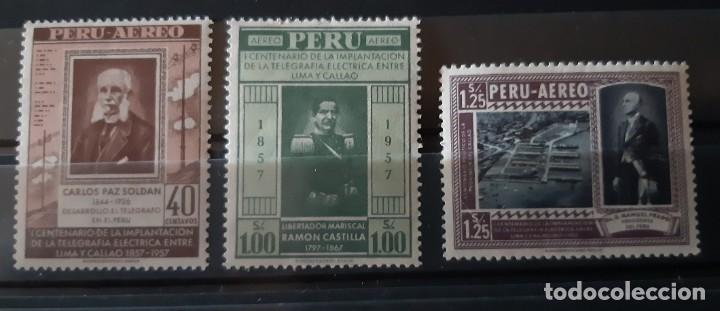 PERU,1958,CAT.YT.PA.135/137. (Sellos - Extranjero - América - Perú)