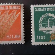 Sellos: PERU,1963.CAT.YT. 464 Y PA. 189.. Lote 288942128