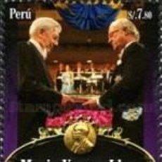 Sellos: SELLO USADO DE PERU 2011, YT 1893, MARIO VARGAS LLOSA. Lote 293171943