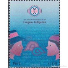 Sellos: PE2879 PERU 2020 MNH INTERNATIONAL YEAR OF INDIGENOUS LANGUAGES. Lote 293411688