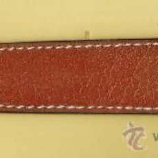 Timbres: FUNDA PINZAS - PIEL MARMOL MARRON CLARO - COSIDA - LARGO 12'5 CM. - SIN ESTRENAR - AÑOS 60. Lote 34950395