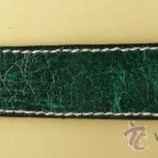 Timbres: FUNDA PINZAS - PIEL MARMOL VERDE - COSIDA - LARGO 12'5 CM. - SIN ESTRENAR - AÑOS 60. Lote 34950416