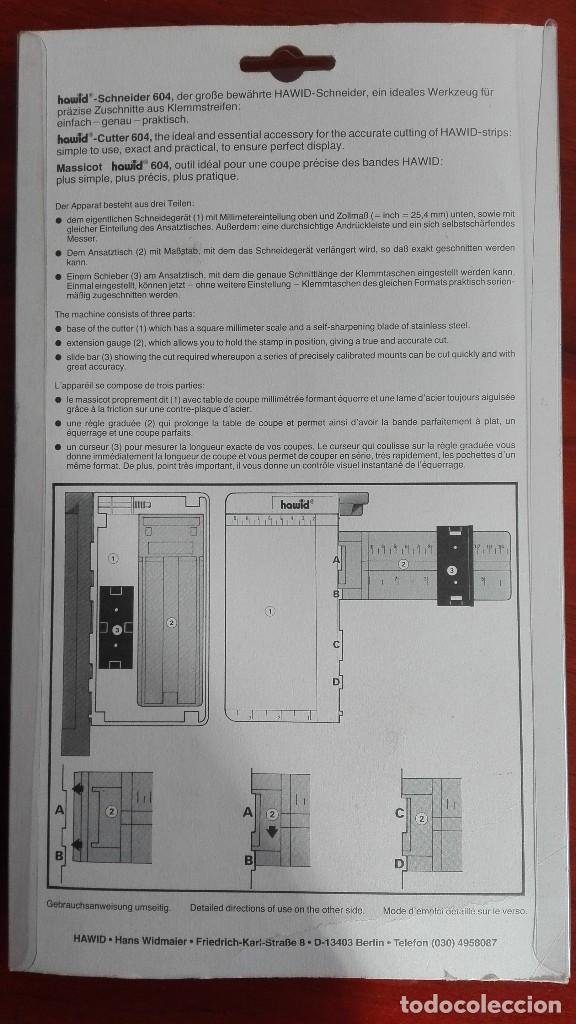 Sellos: Guillotina Hawid 604 con su embalaje original. - Foto 2 - 110029075