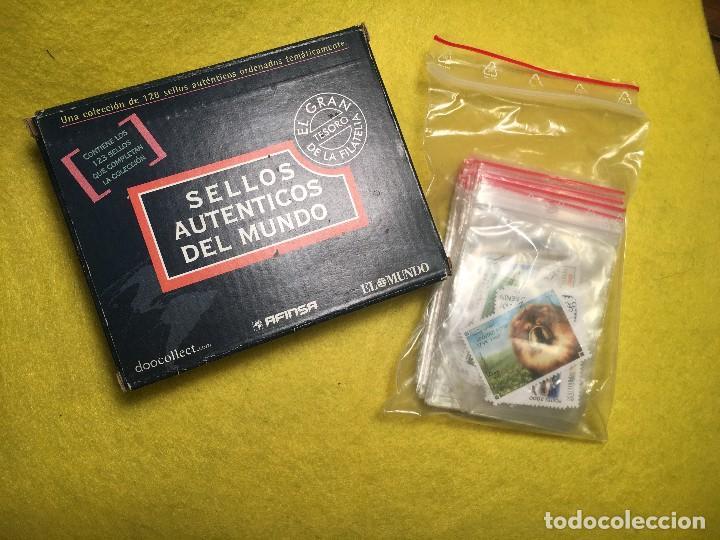 COLECCION -SELLOS AUTENTICOS DEL MUNDO (123 SELLOS) AFINSA EL MUNDO (Sellos - Material Filatélico - Guillotinas y Pinzas)