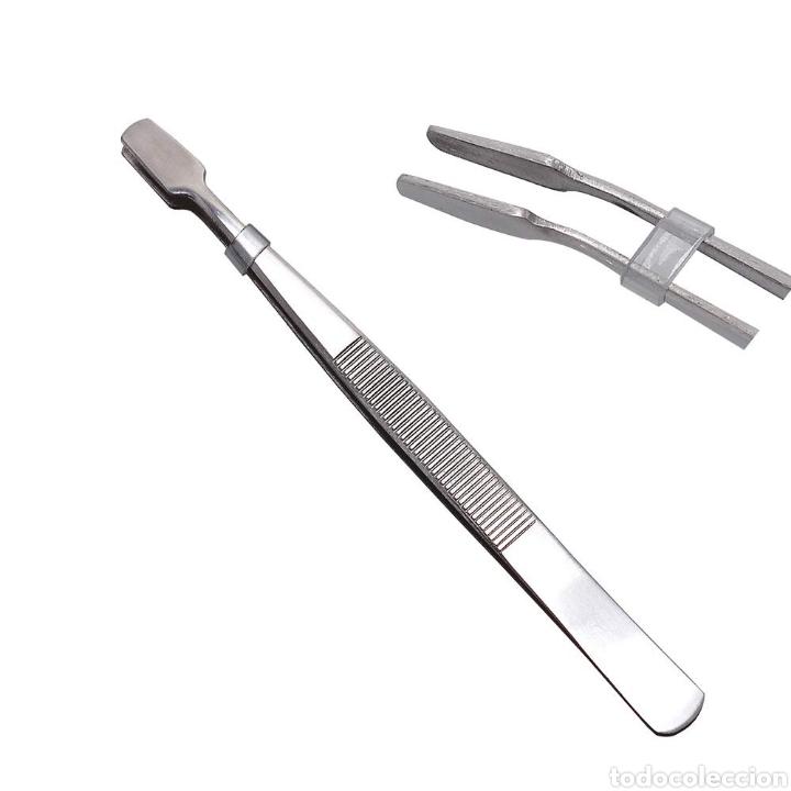 (C-22) PINZA ESPECIAL PARA MANIPULAR ESTAMPILLAS, FILATELIA - 11 CM (Sellos - Material Filatélico - Guillotinas y Pinzas)