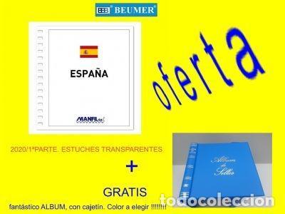 MANFIL, SUPLEMENTO ESPAÑA 2020.1ER SEMESTRE CON ESTUCHES TRANSP + GRATIS ALBUM (Sellos - Material Filatélico - Guillotinas y Pinzas)