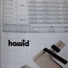 Sellos: HAWID GUILLOTINA HA 604 PARA CORTAR ESTUCHES. FOTOS PAPEL ECT DISTRIBUIDOR FILATELIA COLISEVM. Lote 267149674