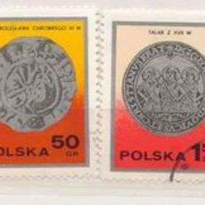 Sellos: POLONIA 1977. MONEDAS ANTIGUAS. Lote 809065