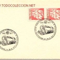 Sellos: POLONIA 1971 FERROCARRIL RAILWAY. Lote 218320817