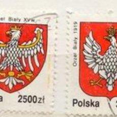 Sellos: POLONIA 1992. ESCUDOS. Lote 376918