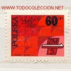 Sellos: POLONIA 1972. 5º CONGRESO INTERNACIONAL DE LA UNIÓN DE JÓVENES SOCIALISTAS. Lote 378751