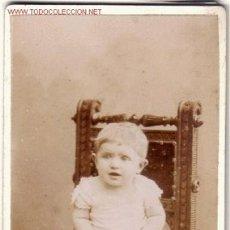 Sellos: FOTOGRAFIA ALBUMINA DE BEBE S. XIX - FOT. W.SCHRÖTER. Lote 27067060