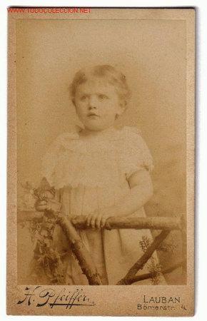 FOTOGRAFIA ALBUMINA DE NIÑO S.XIX - H.PFEIFFER (Sellos - Extranjero - Europa - Polonia)
