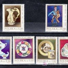 Sellos: POLONIA 2608/13 SIN CHARNELA, PORCELANA Y LOZA POLACA,. Lote 18395849