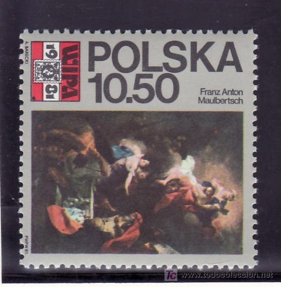 POLONIA 2552 SIN CHARNELA, PINTURA, WIPA 1981, EXPOSICION FILATELICA EN VIENA, (Sellos - Extranjero - Europa - Polonia)