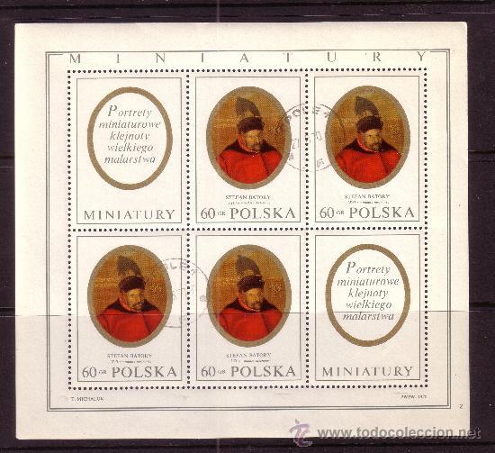 POLONIA 1868 HB - AÑO 1970 - STEFAN BATORY (Sellos - Extranjero - Europa - Polonia)