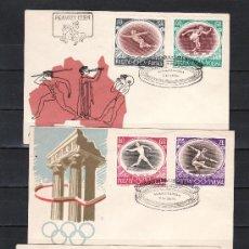 Sellos: POLONIA 871/6 PRIMER DIA, DEPORTE, JUEGOS OLIMPICOS DE MELBOURNE. Lote 21461499