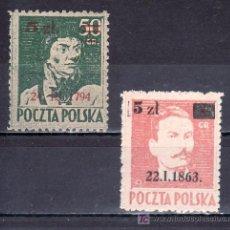 Sellos: POLONIA 437/8 SIN ENGOMAR, SOBRECARGADO, . Lote 19248839