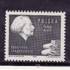 Sellos: POLONIA 1050 SIN CHARNELA, MUSICA, CENTENARIO DEL NACIMIENTO DEL COMPOSITOR IGNACY JAN PAREDEWSKI. Lote 19107489