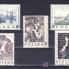 Sellos: POLONIA 967/71 SIN CHARNELA, PINTURA, OBRAS DE PINTORES POLACOS, . Lote 19108012