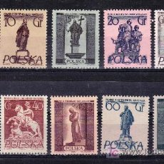 Sellos: POLONIA 802/9, 805A, 806A, 809A, SIN CHARNELA, MONUMENTOS DE VARSOVIA, . Lote 113410647