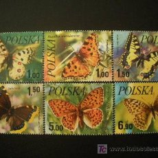 Selos: POLONIA 1977 IVERT 2345/50 *** MARIPOSAS - FAUNA. Lote 18931726