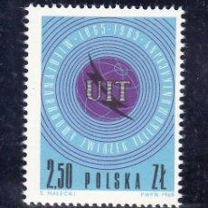 Sellos: POLONIA 1437 SIN CHARNELA, U.I.T., CENTENARIO DE LA UNION INTERNACIONAL DE LAS TELECOMUNICACIONES. Lote 19065492