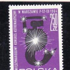 Sellos: POLONIA 1379 SIN CHARNELA, ESPACIO, 15º CONGRESO INTERNACIONAL DE ASTRONOMIA EN VARSOVIA. Lote 237156475
