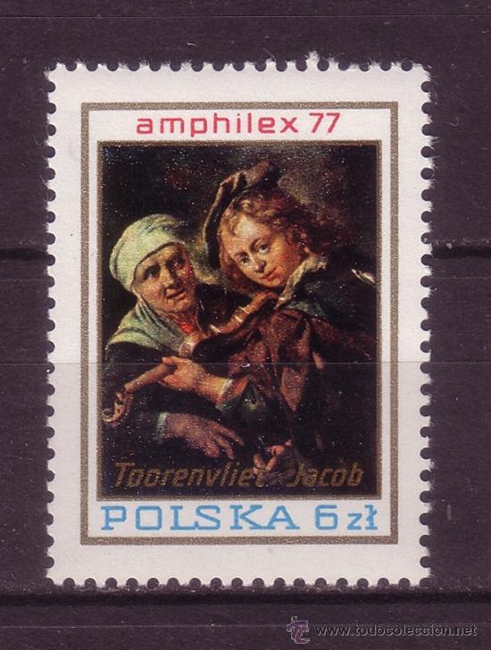 POLONIA SH 74*** - AÑO 1977 - EXPOSICIÓN FILATÉLICA AMPHILEX 77 - ARTE - PINTURA (Sellos - Extranjero - Europa - Polonia)