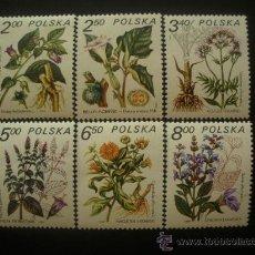 Sellos: POLONIA 1980 IVERT 2523/8 *** PLANTAS MEDICINALES - FLORA. Lote 22859642