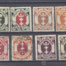 Timbres: DANZIG,CIUDAD LIBRE 1923, USADOS. Lote 27286458