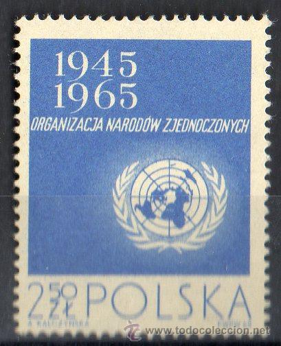 POLONIA AÑO 1965 YV 1482*** XX ANVERSARIO DE LAS NACIONES UNIDAS - ONU - MAPAS (Sellos - Extranjero - Europa - Polonia)