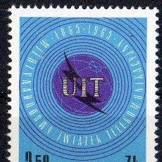Sellos: POLONIA AÑO 1965 YV 1437*** CENTENARIO DE LA U.I.T. - TELECOMUNICACIONES. Lote 23539912