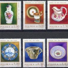 Sellos: POLONIA AÑO 1981 YV 2556/61* PORCELANAS - ARTESANÍA. Lote 23540004