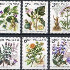 Sellos: POLONIA AÑO 1980 YV 2523/28* PLANTAS MEDICINALES - FLORA - NATURALEZA. Lote 23540046